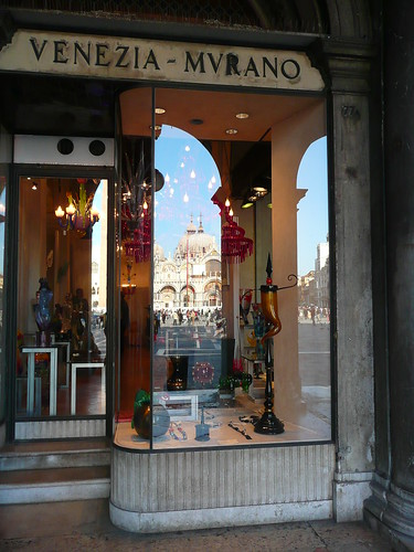 Murano glass shop.