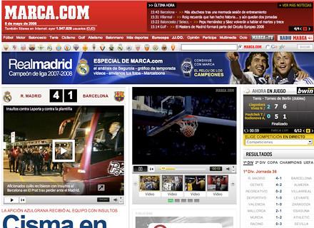 inicio de marca.com del 8 de mayo