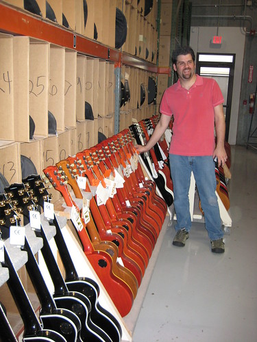 Zac and a rack of 58 & 59 reissue Les Paul's