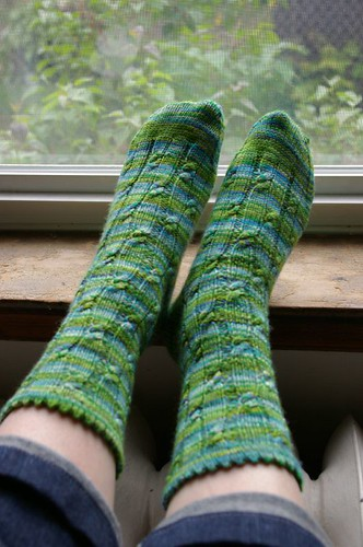 Sockamania Simply Cables socks