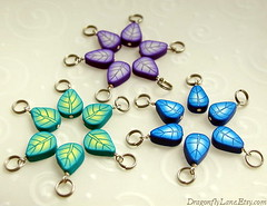 Leafy stitch markers