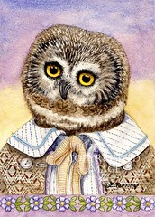 """Henry the Owl"" Watercolor by Elizabeth Ruffing"