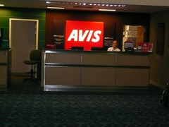 Avis Rental Car Counter