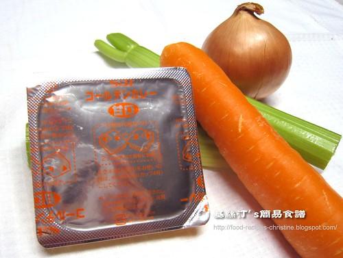 日式咖喱雞扒材料