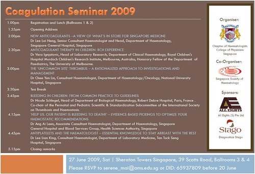 Coagulation Seminar 2009