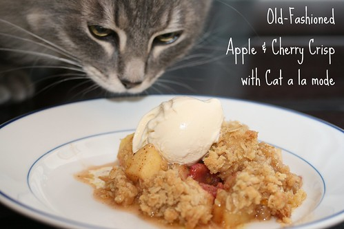 Food Librarian - Old-Fashioned Apple & Cherry Crisp