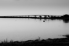 quiet border (Anie*) Tags: sunset argentina river uruguay atardecer boat border calm bote internationalbridge paysandu rouruguay puenteinternacionaljosartigas