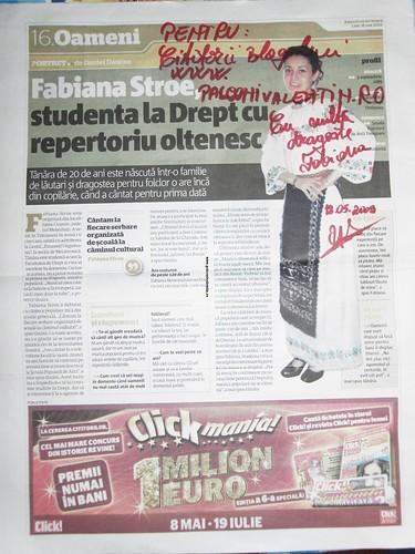 Fabiana Stroe-Aparitie in Adevarul de seara II by you.