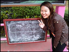 Charlene doing algebra (beevek) Tags: ocean park travel hongkong hong kong math equation chalkboard charlene 2010 oceanpark algebra