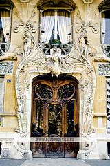 Lavirotte, Art Nouveau facade in Paris (Naomi Rahim (thanks for 5 million visits)) Tags: door paris france architecture facade entrance best artnouveau organic trippy salvadordali lavirotte 29averapp arr7th