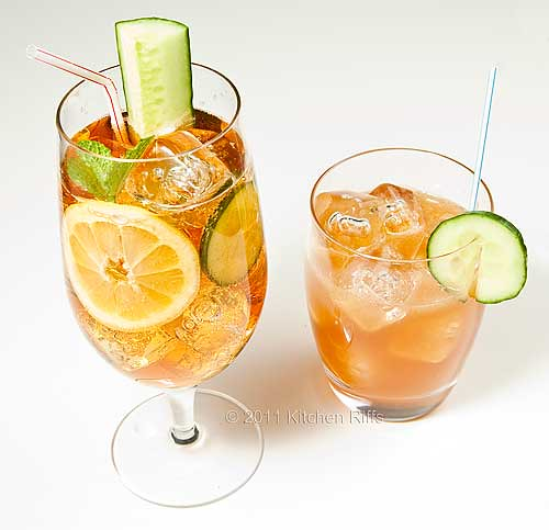 Two different ways of serving Pimm's Cup