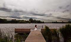 (Noukka Signe) Tags: storm nature water girl weather clouds project landscape alone sitting wind front explore page 365 signe explored noukka