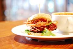 Novel Cafe: Umm (evilmidori) Tags: california food soup restaurant sandwich downtownla downtownlosangeles novelcafe