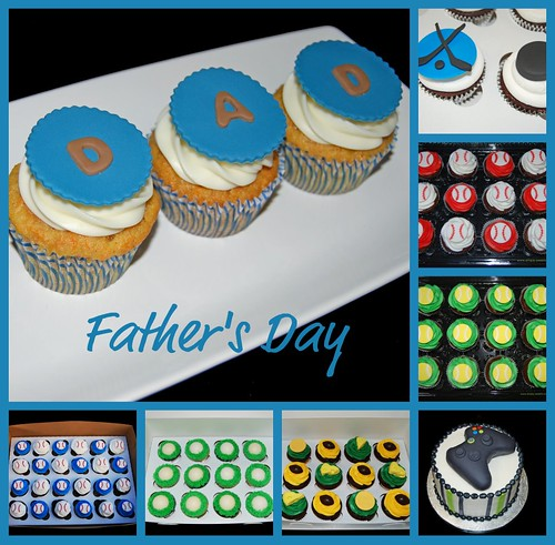Simply Sweets Father's Day cake and cupcake ideas