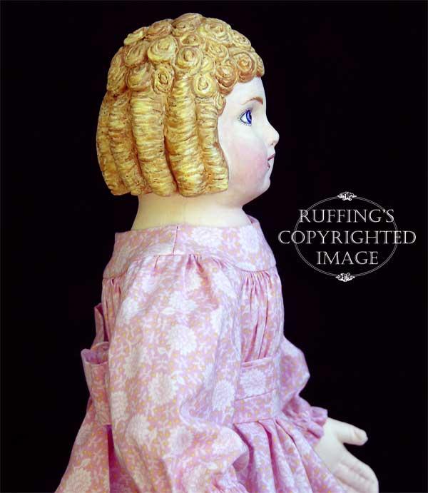 Clara, Original One-of-kind Folk Art Doll by Elizabeth Ruffing