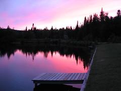 Dead-end Paradise 1 (-VRo-) Tags: sunset sky lake canada color nature water canon landscape lac ciel paysage paysages couleur paradis laurentides colorphotoaward photoquebec photoqubec lysdor