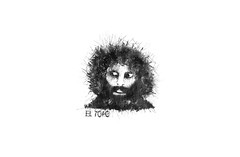 El Topo - Alejandro Jodorowsky (zee wilzom) Tags: portrait white mountain abstract black art topo contrast digital ink photoshop painting beard empty famous creative evil manipulation el holy messy actor cs simple alejandro technique jodorowsky artisit moive splashed