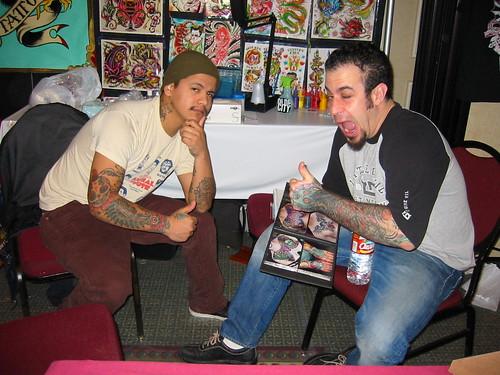 Tattoo Artist - Dave Fox (right) - Olde City Tattoo - a
