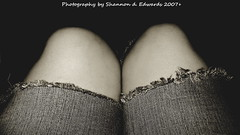 Blue Jeans (ThroughShannonsEyes) Tags: woman ripped torn bluejeans knees