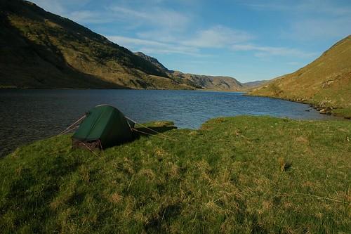 Camp at Loch an Dubh-Lochain
