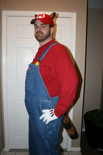 Thrifty holidays 14 diy costume ideas its a great costume no doubt about it but raccoon mario takes it to a whole new level of geek chic solutioingenieria Gallery