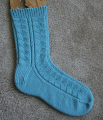 Diamond Gansey Sock 102807