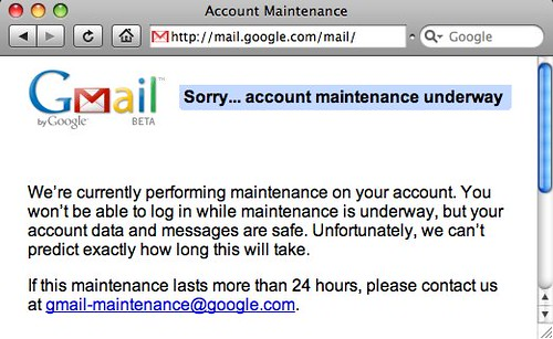 Gmail Error