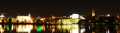 Helsingfors Center from the north (aixcracker) Tags: panorama oktober night helsinki october helsingfors gitzo natt tlnlahti y lokakuu nikond200 tlviken tlbay
