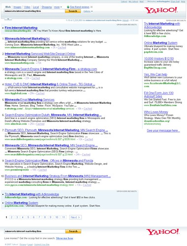 """minnesota internet marketing firm"" Yahoo Search Results - 11127107"
