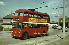 Doncaster Trolleybus, May 1959. (Lady Wulfrun) Tags: street light bus buses electric traction charles h sunbeam roe digger 1959 stanton trolleybus doncaster 391 lampppost playerts