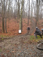 Muddy trail at the DR Punk Bike Enduro