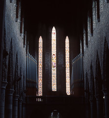 Stone Power (Luca Salvini) Tags: ireland church catholic cathedral pentax k1000 kodak interior stainedglass eire chiesa organ killarney ektachrome100 soe irlanda scanfromfilm mywinners abigfave cmeradeourobrasil aplusphoto superbmasterpiece ysplix betterthangood