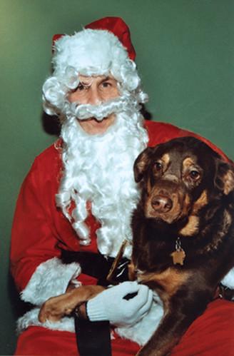 Morgan visits Santa