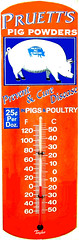 Pruett's Pig Powders thermometer