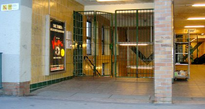 geschlossener U-Bahnhof (BVG Streik)