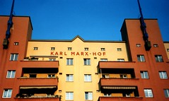Karl Marx - Hof building, Vienna (phototouring) Tags: vienna wien city houses building karlmarx architecture facade buildings austria town sterreich europe cities facades marx karl housing towns complex sights hof attraction attractions dbling 1930 heiligenstadt karlmarxhof