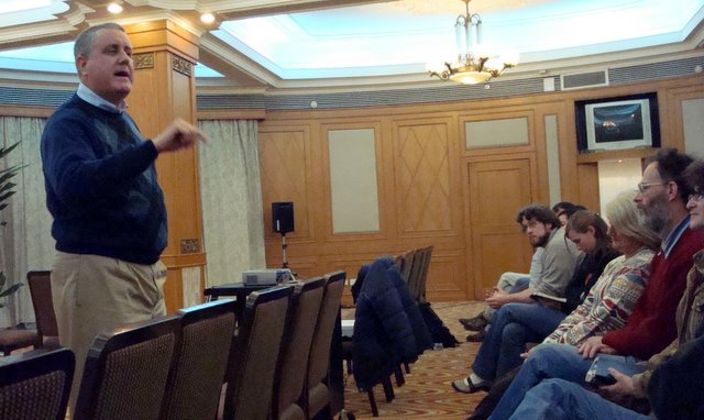 Speaking at the Nanchang Fellowship