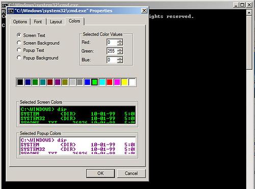 DOS Prompt Properties