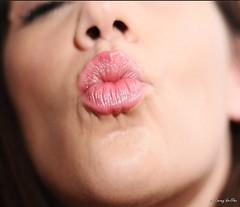 Day 111/365 - Kisses for my camera (thephotographymuse) Tags: portrait woman face female self mouth kiss flash kisses lips lipstick smack thirtysomething 365days waman canon40d