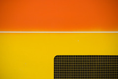 "Coach study: ""Brazier"" (Myxi) Tags: orange abstract yellow coach minimal grille minimalism minimalist pinstripe interestingness486 copyrightallrightsreserved artlegacy"