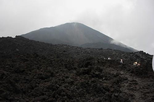 Cima del volcan Pacaya