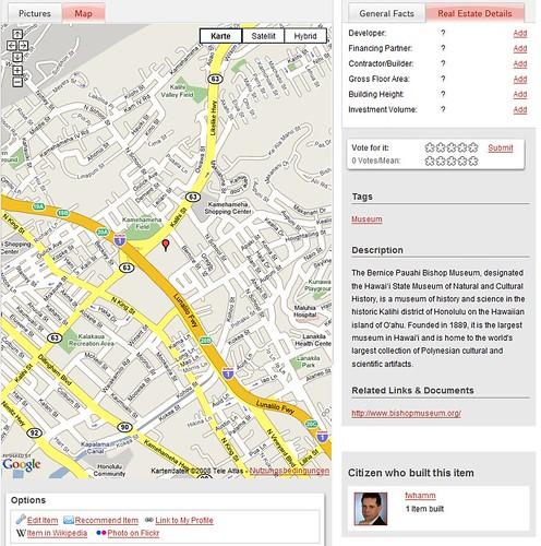 ourbania:  Bernice P. Bishop Museum map