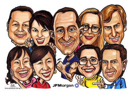 Group Caricatures JP Morgan