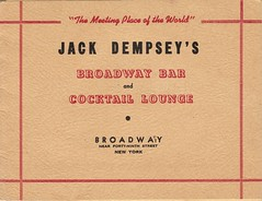 """The Meeting Place of the World"" (candyknits) Tags: nyc newyorkcity wwii barphoto jackdempseysbar vintagephotofolder"