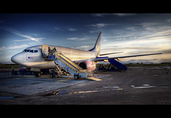Going to Spain (Kaj Bjurman) Tags: desktop trip vacation airplane eos airport sweden sverige 2008 hdr kaj re cs3 flygplats photomatix 40d bjurmen