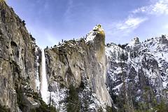 Bridalveil Falls, Yosemite (punahou77) Tags: yosemite yosemitenationalpark yosemitevalley bridalveil bridalveilfalls landscape landmark nature nikond500 nationalpark punahou77 park pines water waterfall california clouds mountain mountains sky stevejordan