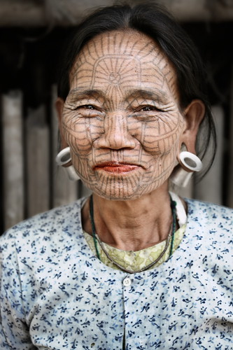 tattooed faces. Tattooed Face Lady 3 by