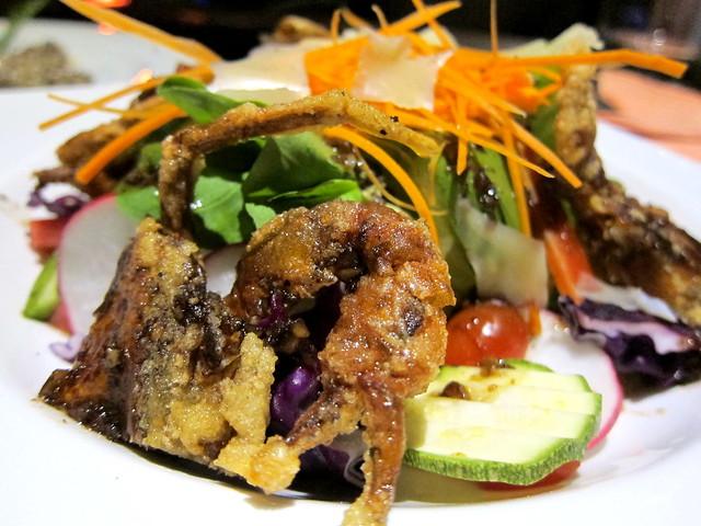 Deep Fried Soft Shell Crab Salad