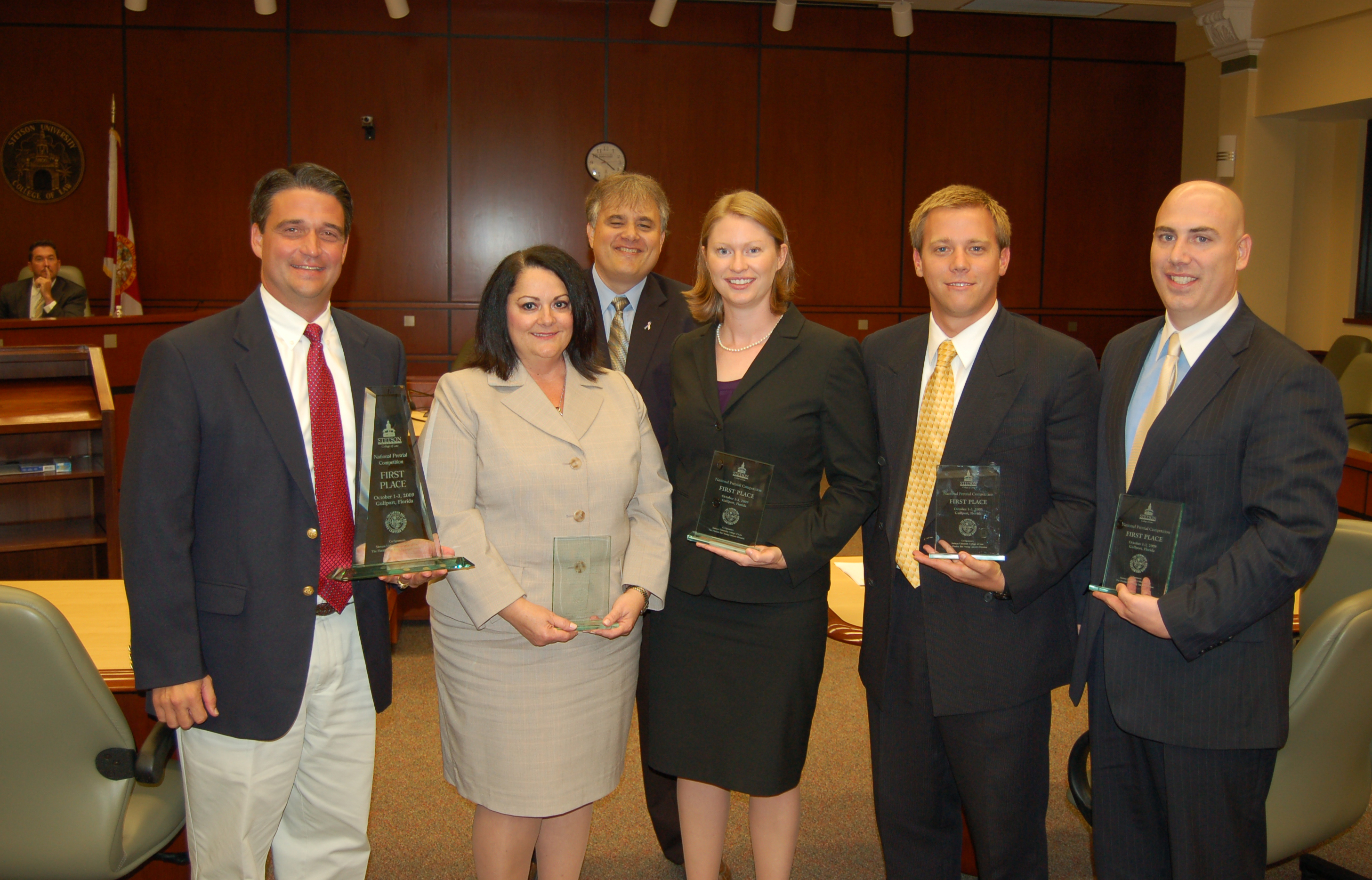 Regent university school of law students won the second annual national pretrial competition on the stetson