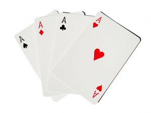 Four aces card